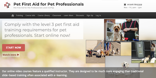 Pet first aid for Pet Professionals